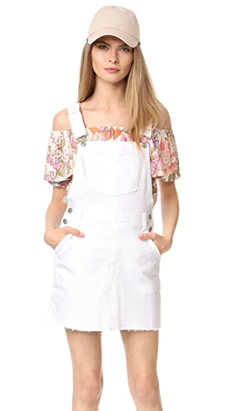 AG Kaitlin Overall Dress - White