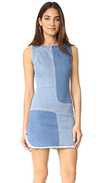 AG Indie Dress In Blue Mystery/Patched