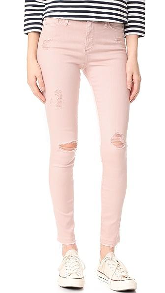AG The Farrah Skinny Ankle Jeans - Interstellar Worn/Rose Quartz