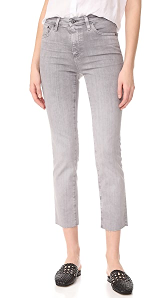 AG The Isabelle Straight Crop Jeans - 3 Years Interstellar Castle