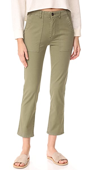 AG The Wes Utilitarian Relaxed Straight Pants - Sulfur Harvest Olive