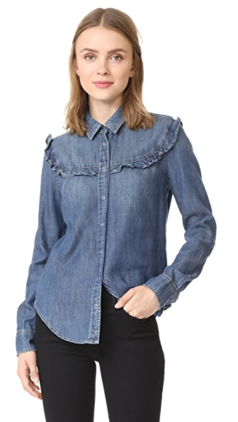 AG Joanna Ruffle Shirt - West Coast