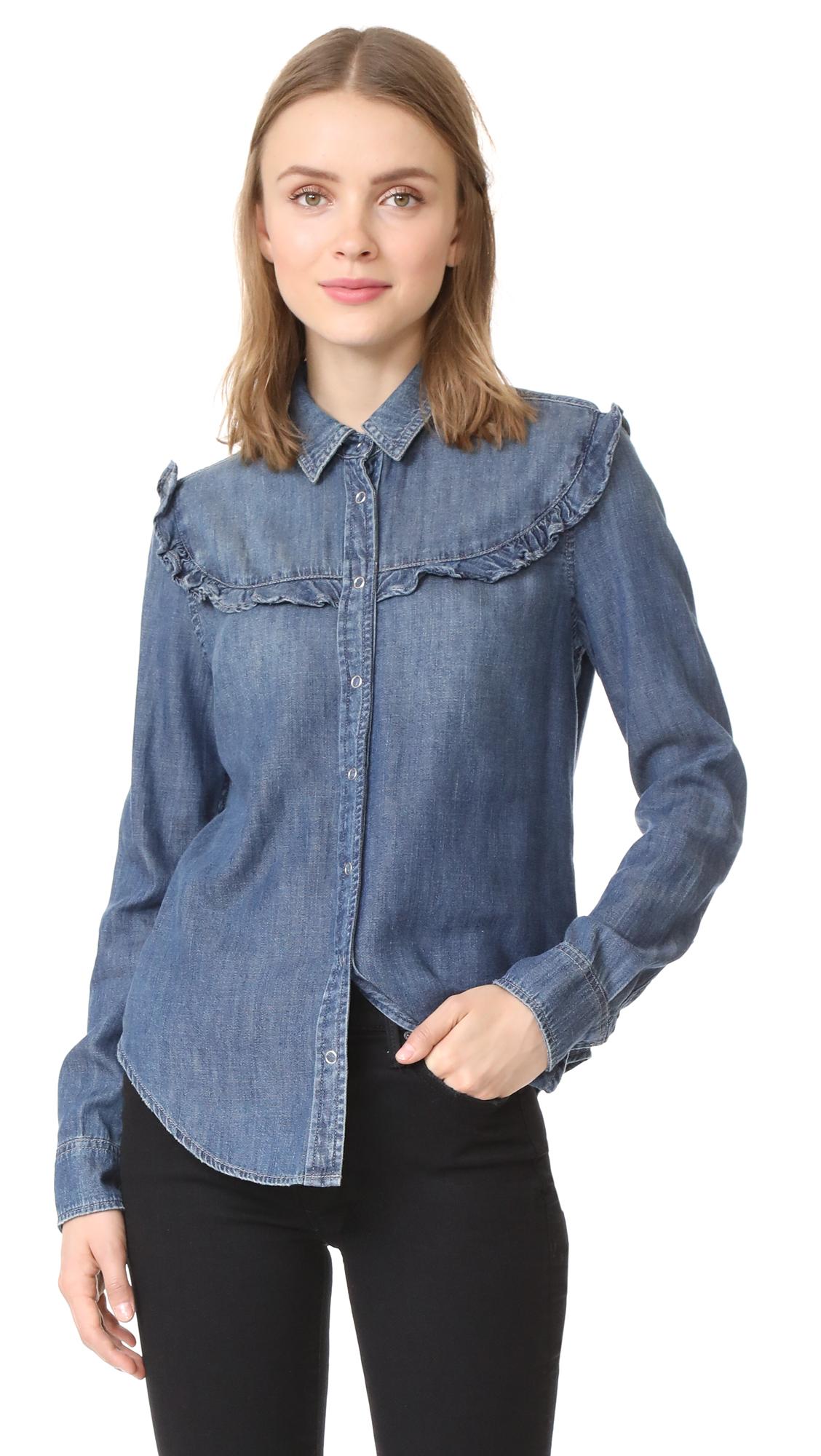 AG Joanna Ruffle Shirt