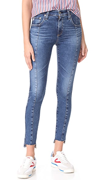 AG The Farrah Ankle Skinny Jeans - 10 Years Rhythmic Blue