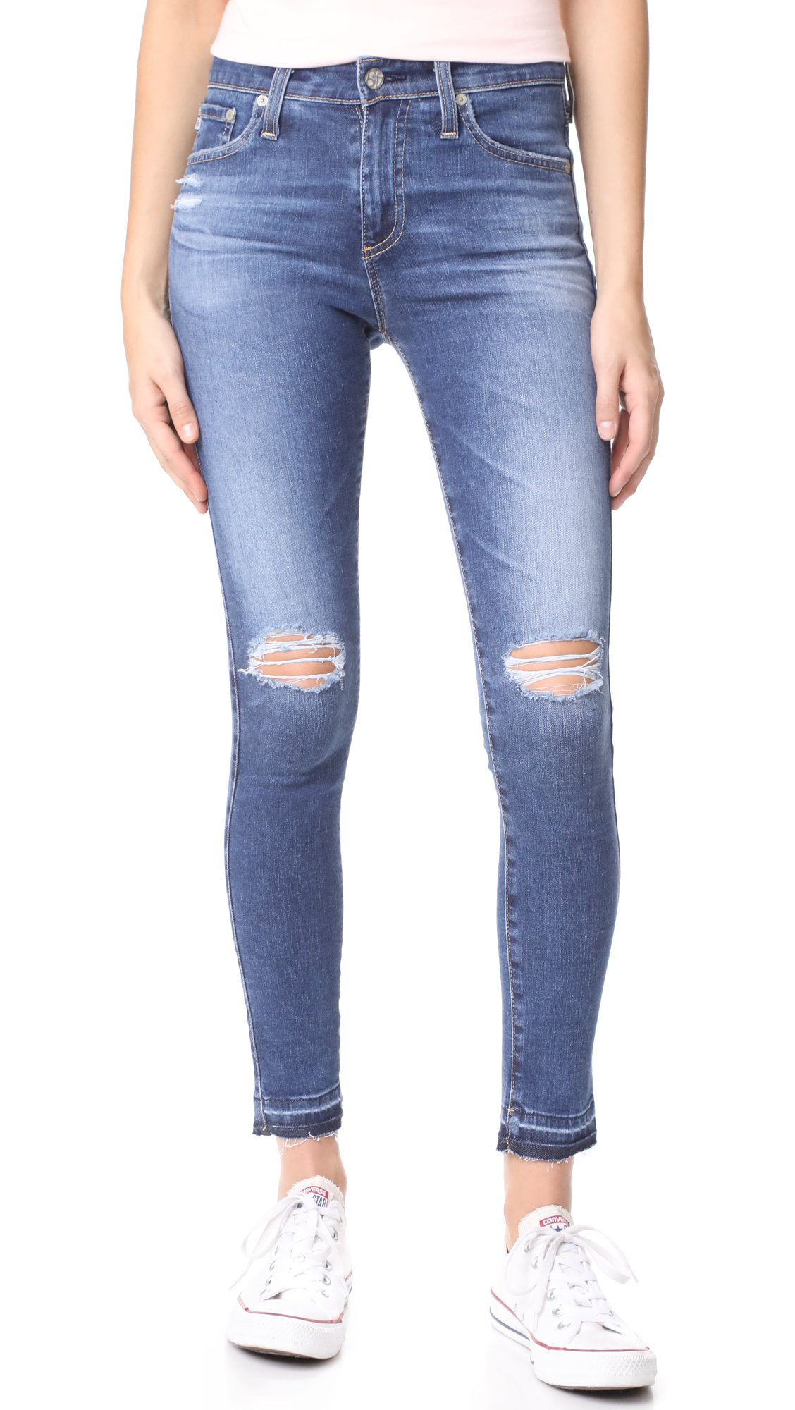 AG The Farrah Ankle Skinny Jeans - 13 Years Daybreak Destroyed