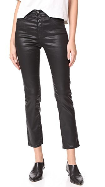 AG The Isabelle Jeans - Leatherette LT Super Black