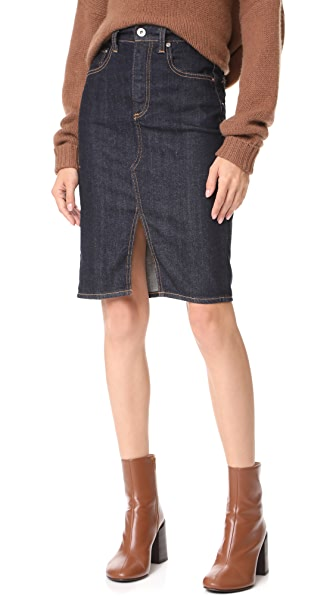 AG Emery High Waisted Pencil Skirt - Indigo Autumn