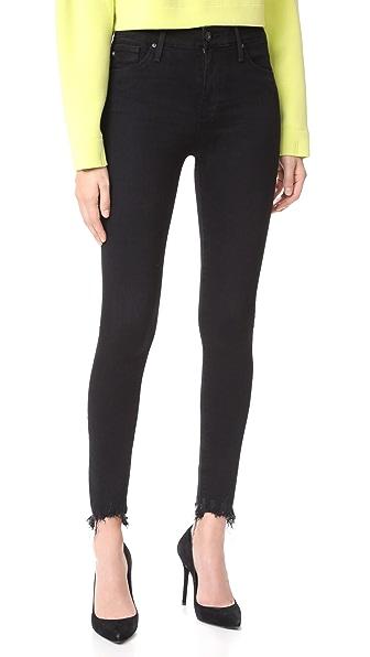 AG The Farrah Ankle Skinny Jeans - Black Storm