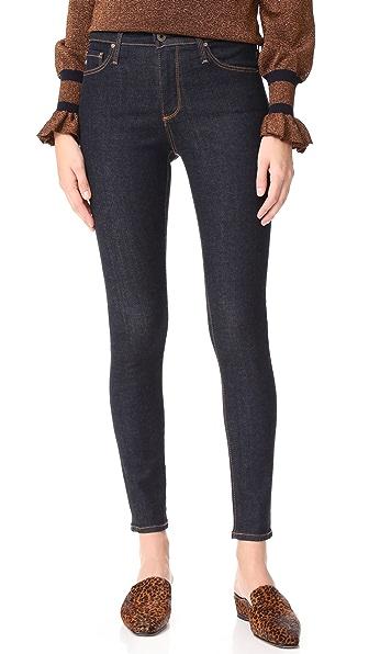 AG The Farrah Ankle Skinny Jeans In Indigo Autumn