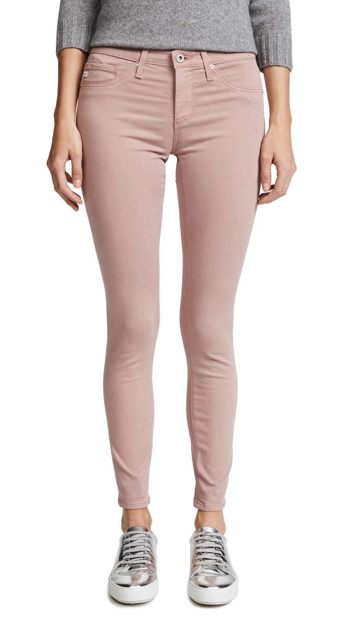 THE LEGGING ANKLE SATEEN JEANS