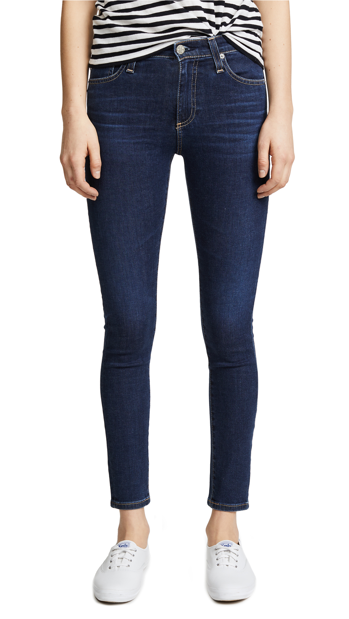 Farrah Stretch Skinny Ankle-Length Jeans