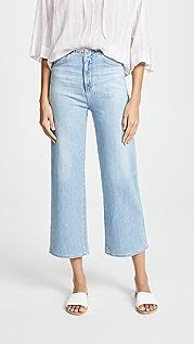 AG Укороченные джинсы Etta с широкими брючинами без пояса