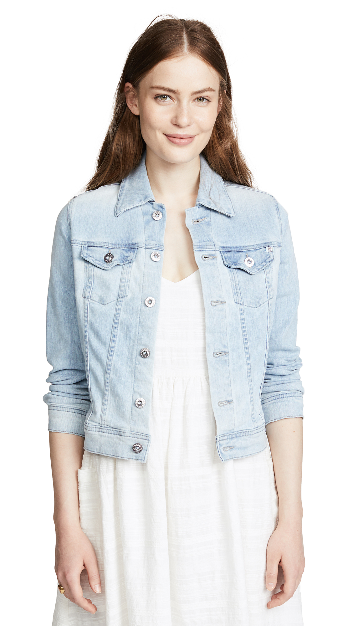 AG Robyn Denim Jacket In Salt Ruins