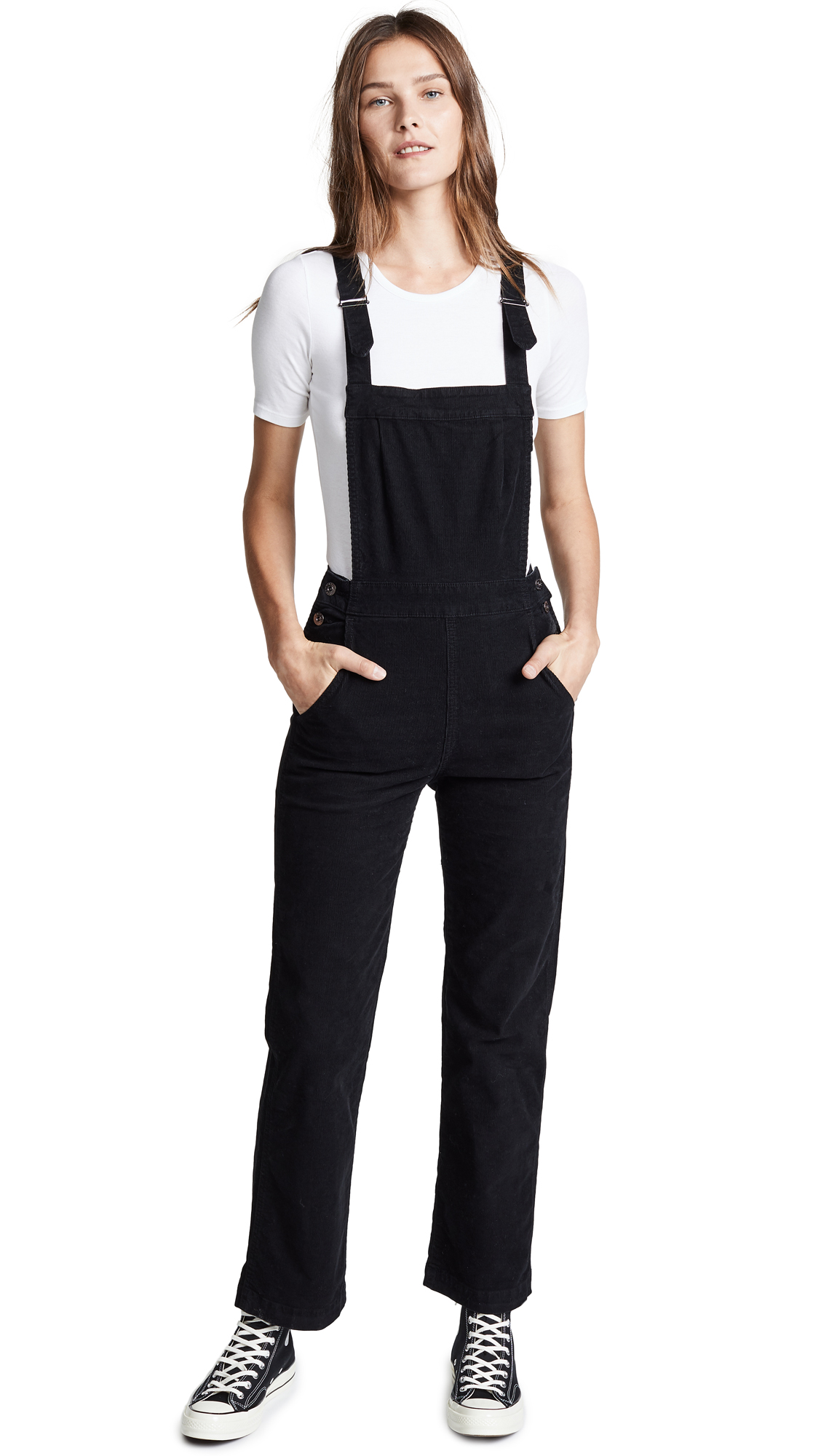 AG Gwendolyn Overalls In Sulfur Black