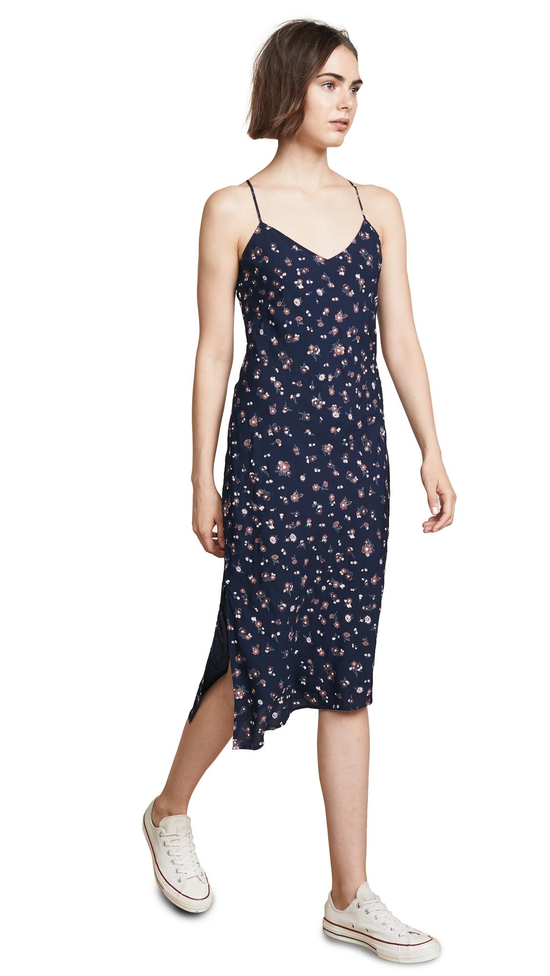 AG Scarlett Slip Dress In Navy Multi