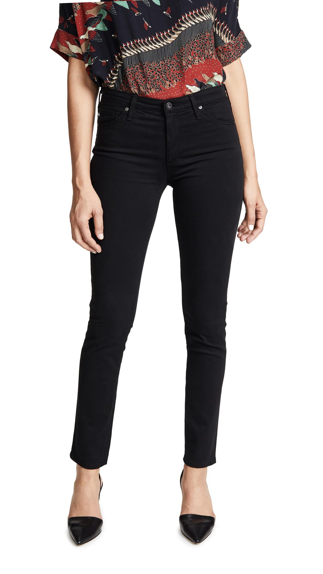 AG The Prima Sateen Jeans - Super Black