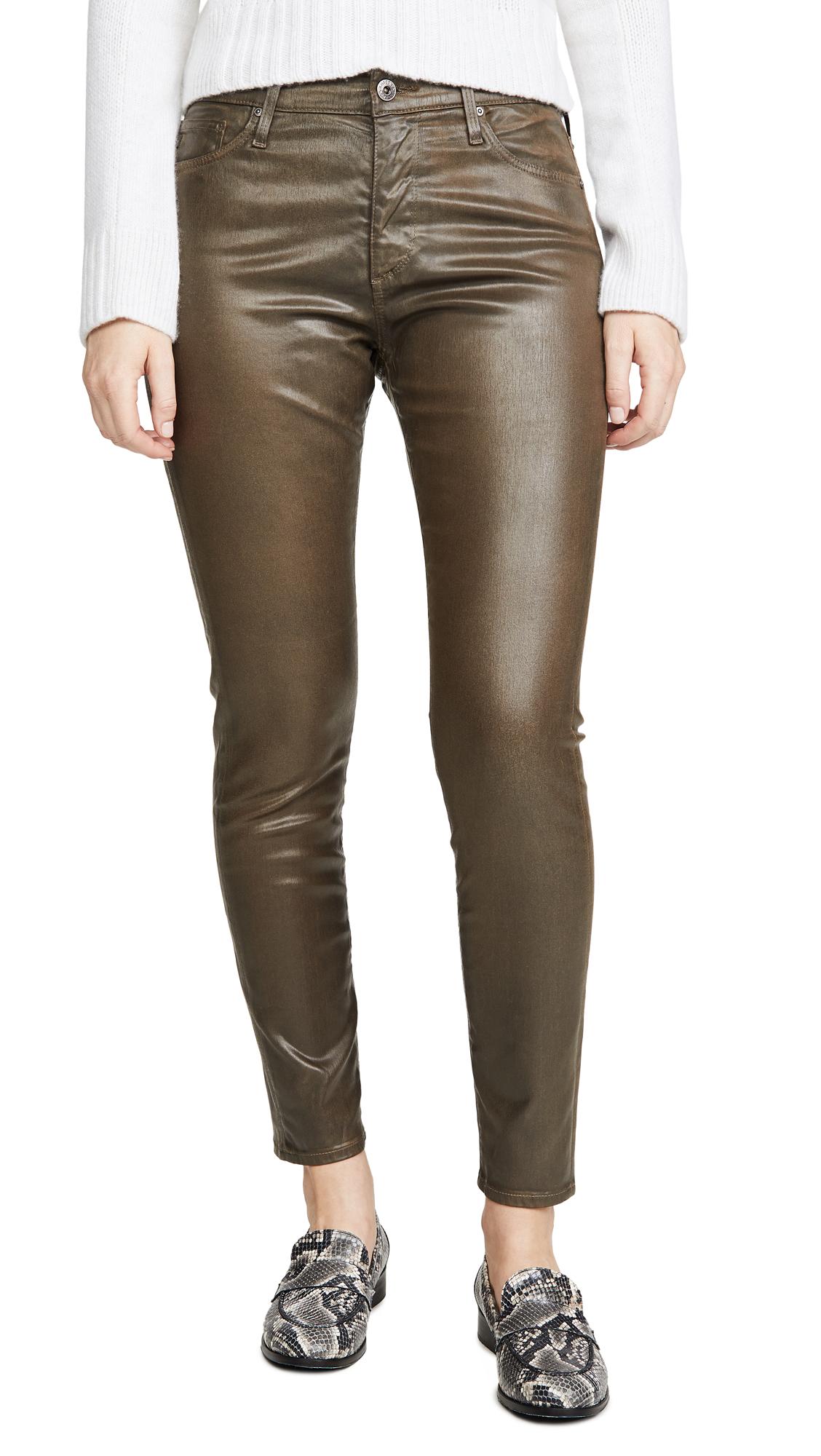Buy AG online - photo of AG The Farrah Vintage Leatherrette Skinny Ankle Jeans