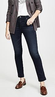 AG Узкие прямые джинсы Mari с высокой посадкой