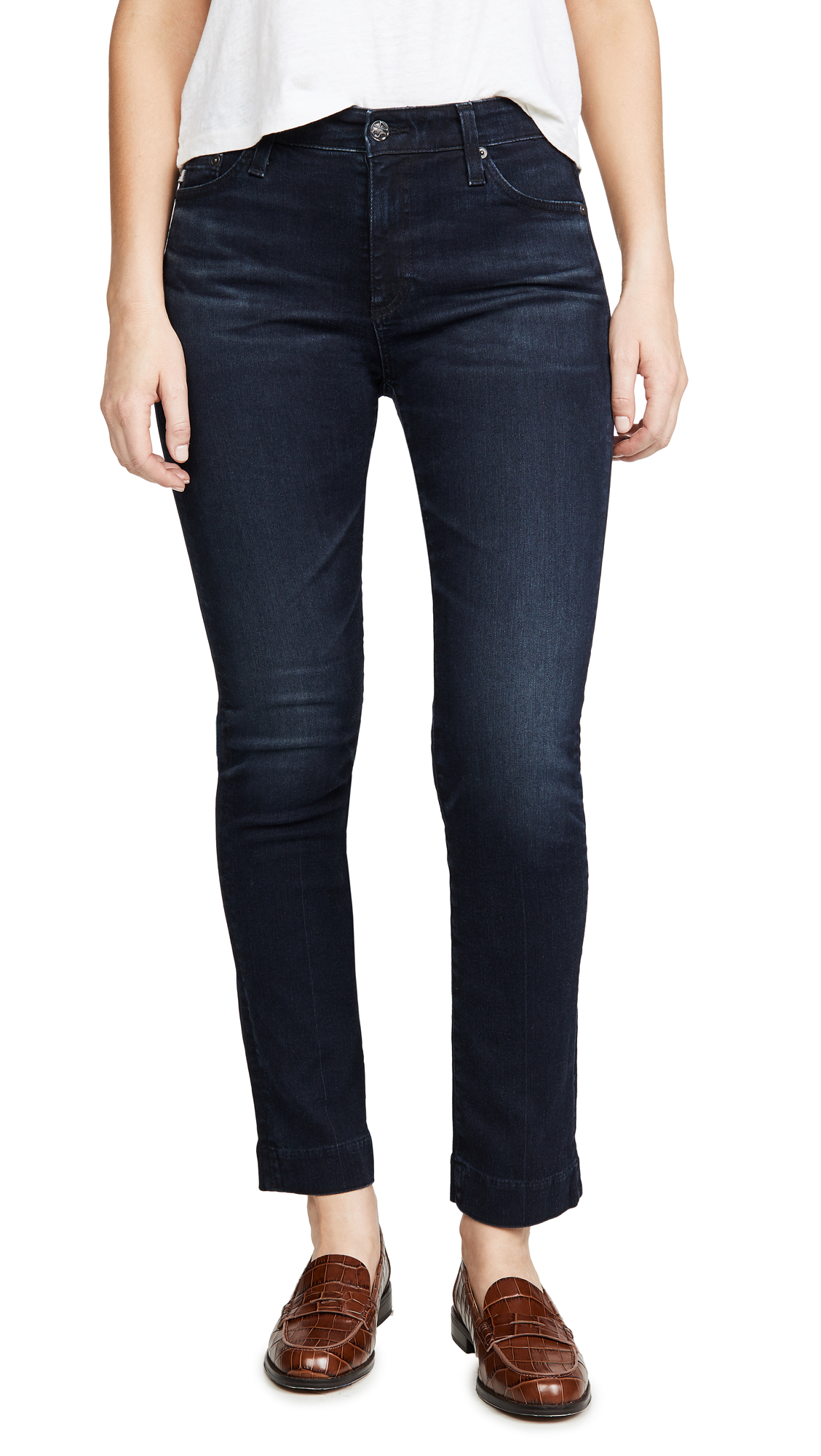 Buy AG online - photo of AG The Mari High Rise Slim Straight Jeans