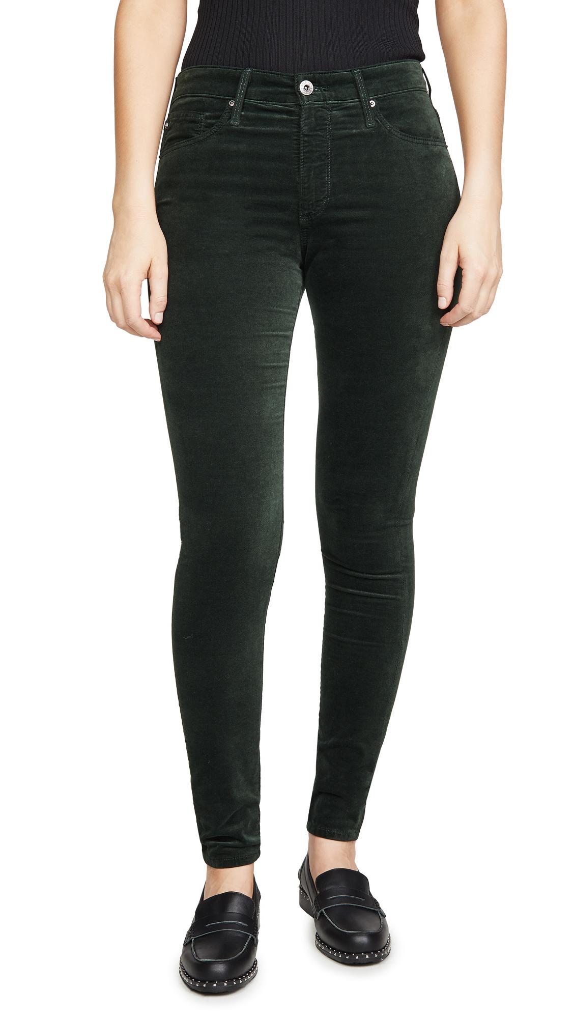 Buy AG online - photo of AG The Farrah Velvet Skinny Pants