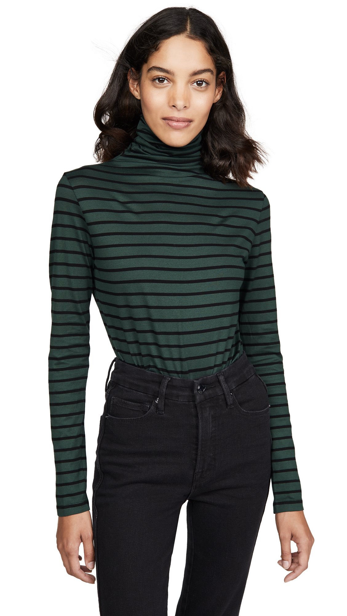 Buy AG online - photo of AG Chels Jersey Stripe Turtleneck