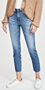 AG Isabelle High Rise Straight Crop Jeans