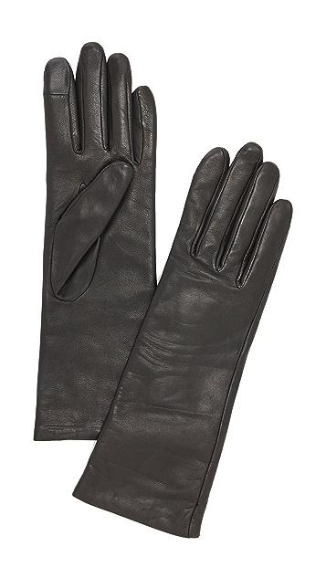 Agnelle Christina Leather Texting Gloves