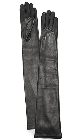 Agnelle Glamour Leather Opera Gloves at Shopbop