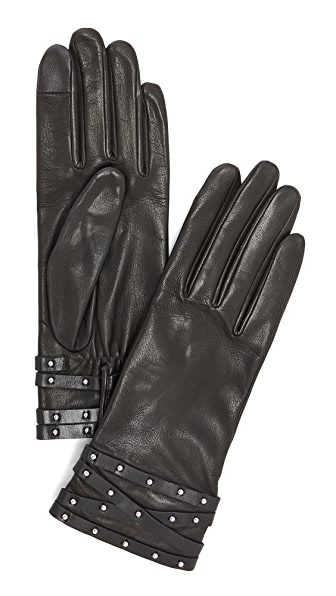Agnelle Clou Rock Leather Gloves at Shopbop