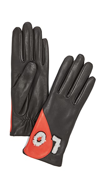 Agnelle Love Leather Gloves at Shopbop