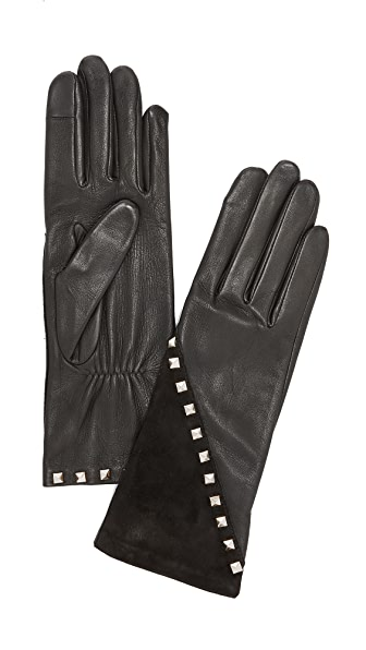 Agnelle Coralie Stud Leather Gloves at Shopbop