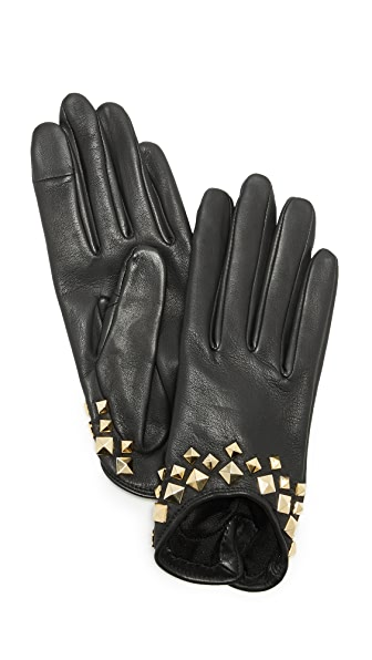 Agnelle Josie Stud Leather Gloves at Shopbop
