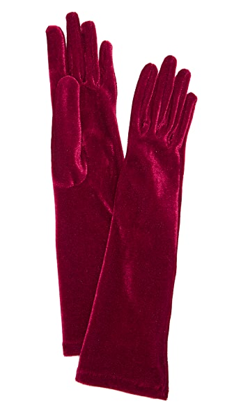 Agnelle Celia Velvet Gloves at Shopbop