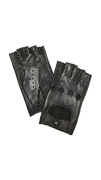 Agnelle Fayed Auto Leather Gloves at Shopbop