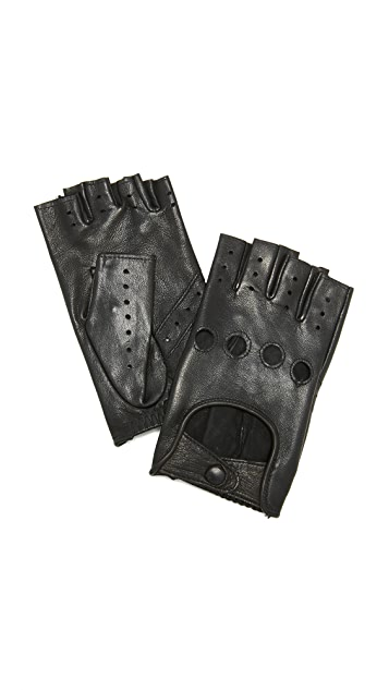Agnelle Fayed Auto Leather Gloves