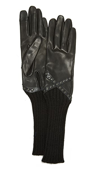 Agnelle Mitaine Leather Gloves at Shopbop