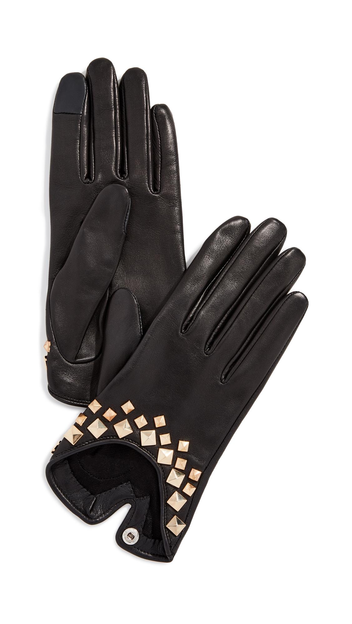 AGNELLE Josie Pyramide Gloves, Black