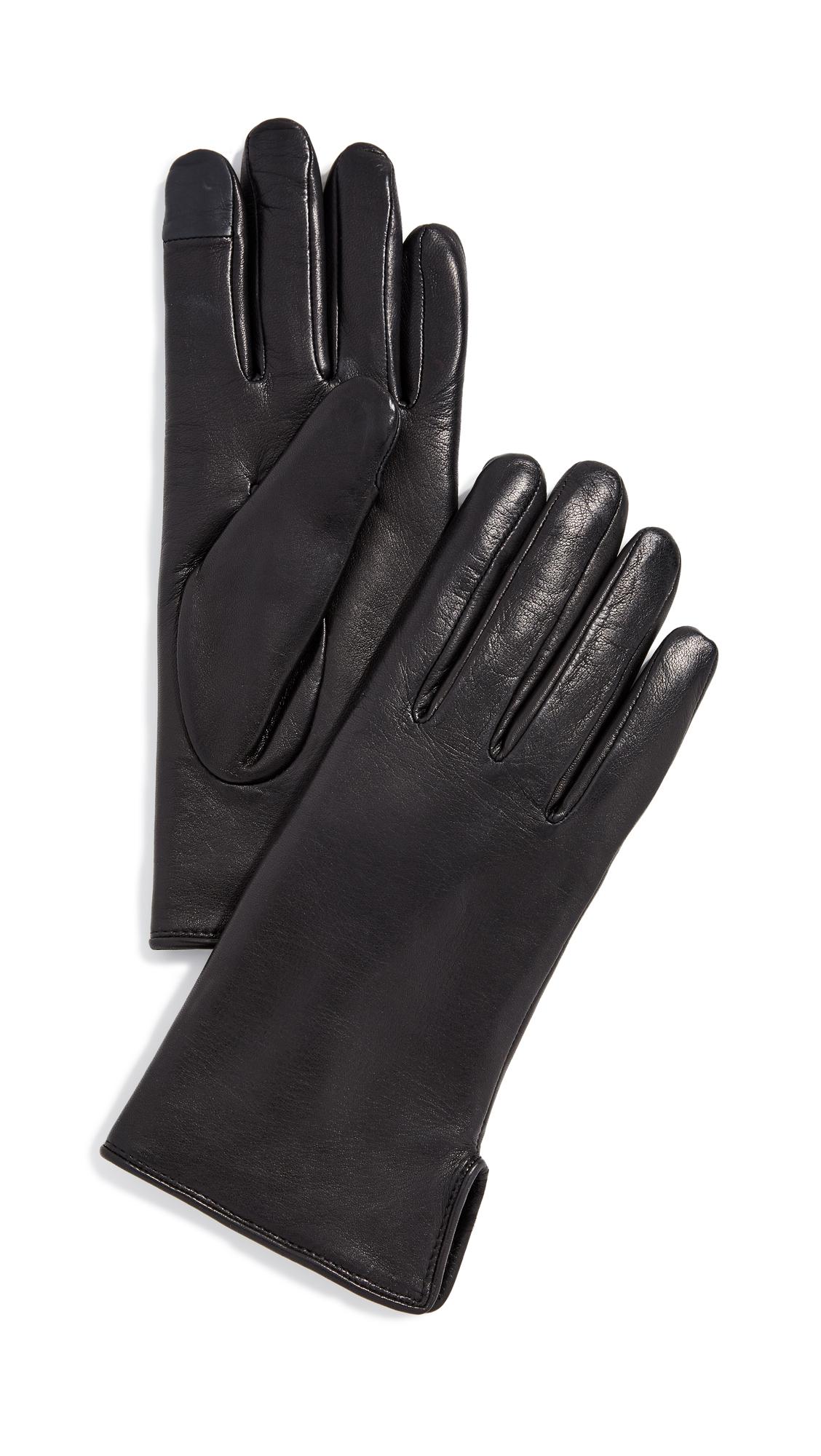 AGNELLE Lapin Gloves, Black