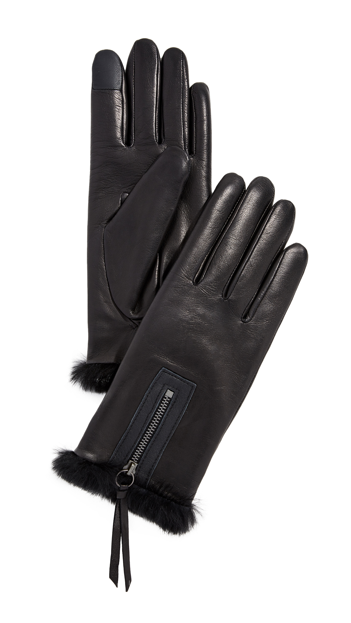AGNELLE Marina Gloves, Black