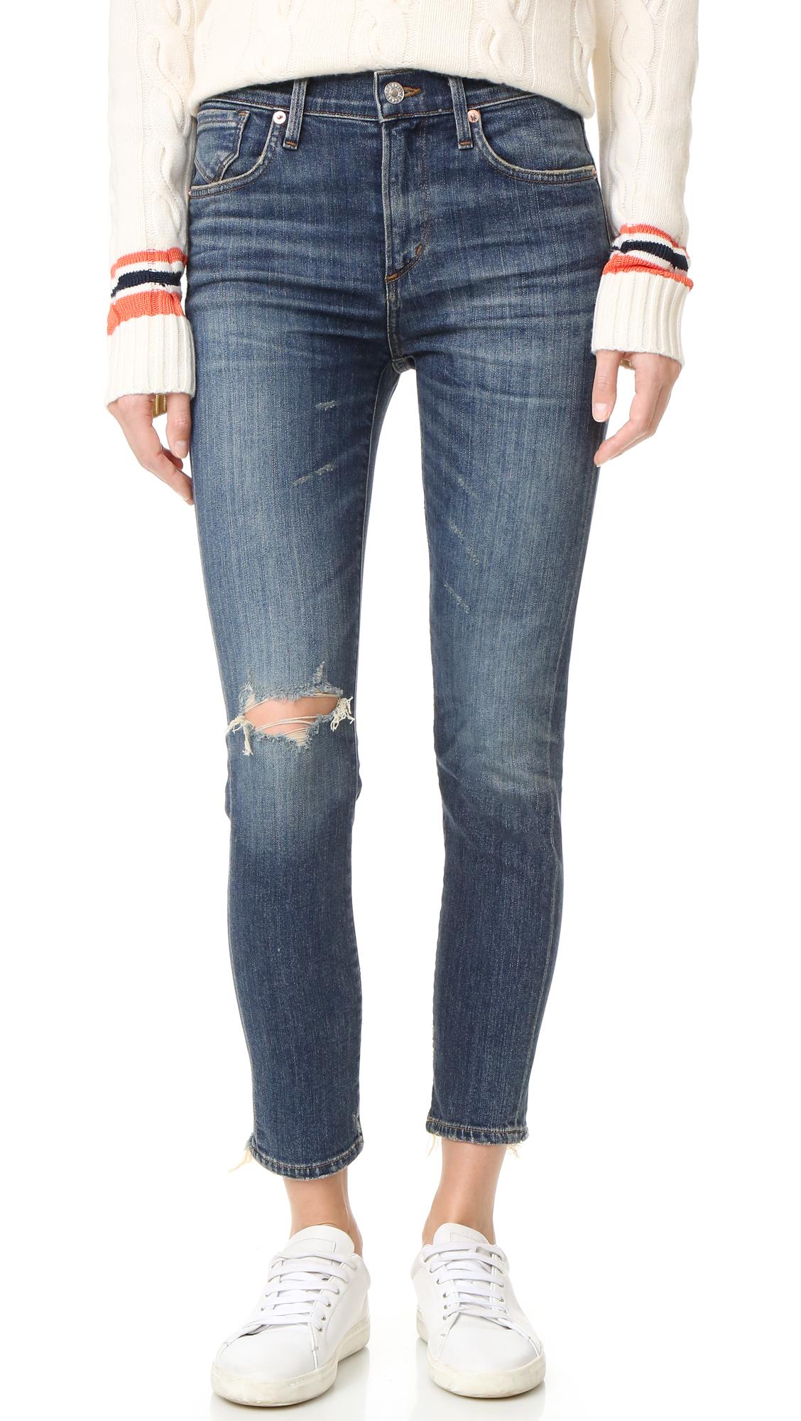 Agolde Sophie High Rise Skinny Crop Jeans - Santa Fe at Shopbop