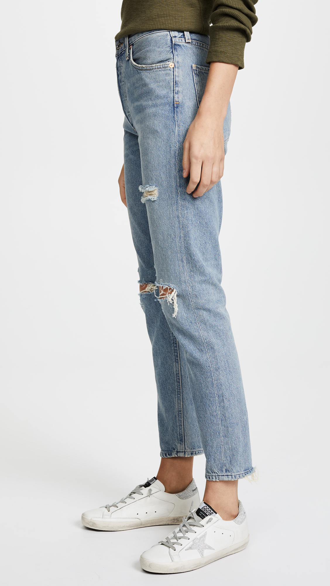 Jamie High Rise in Blue. - size 24 (also in 25,26,27,28,29,30) A Gold E