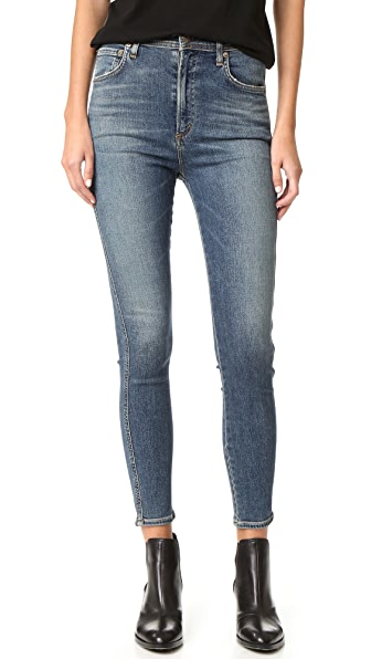 Agolde Roxanne Super Hi Rise Skinny Jeans - Kansas City Clean at Shopbop