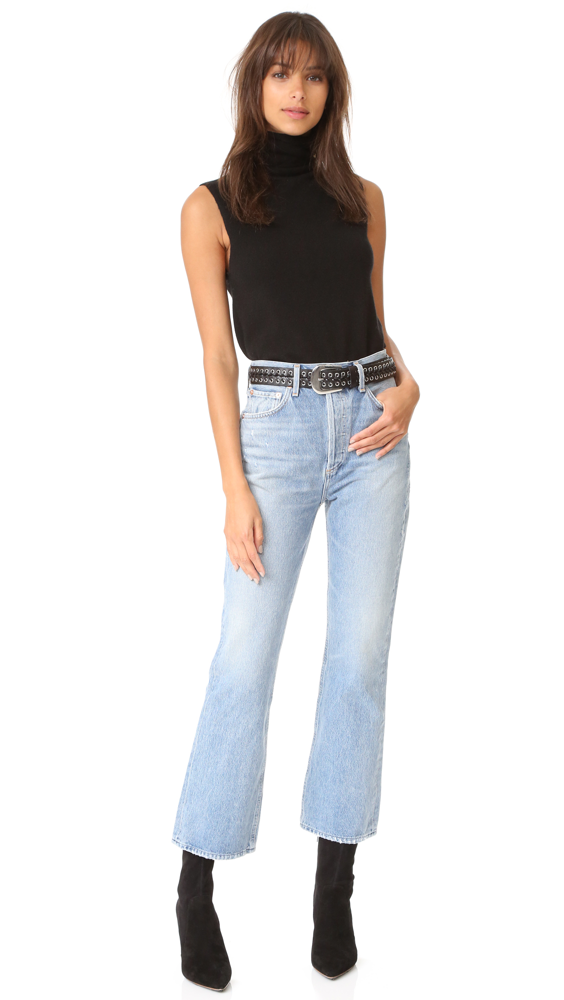 921a50f52f216 AGOLDE Taylor High Rise Crop Kick Flare Jeans   SHOPBOP