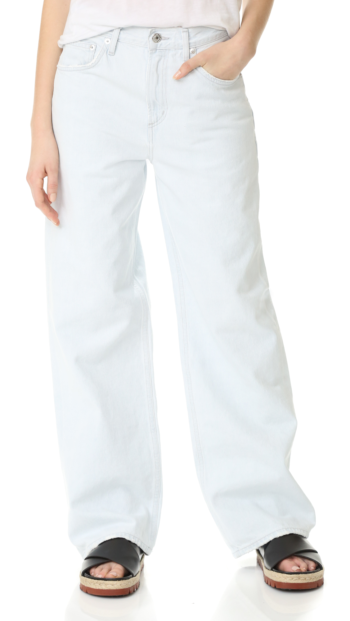Agolde Alana Oversized Straight Leg Jeans - Borderline at Shopbop