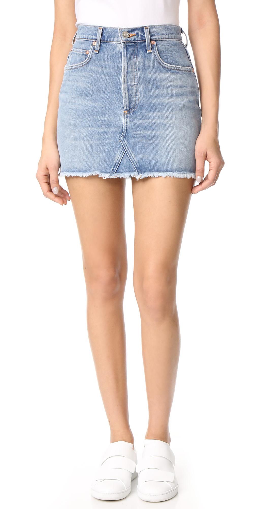 Quinn High Rise Miniskirt AGOLDE