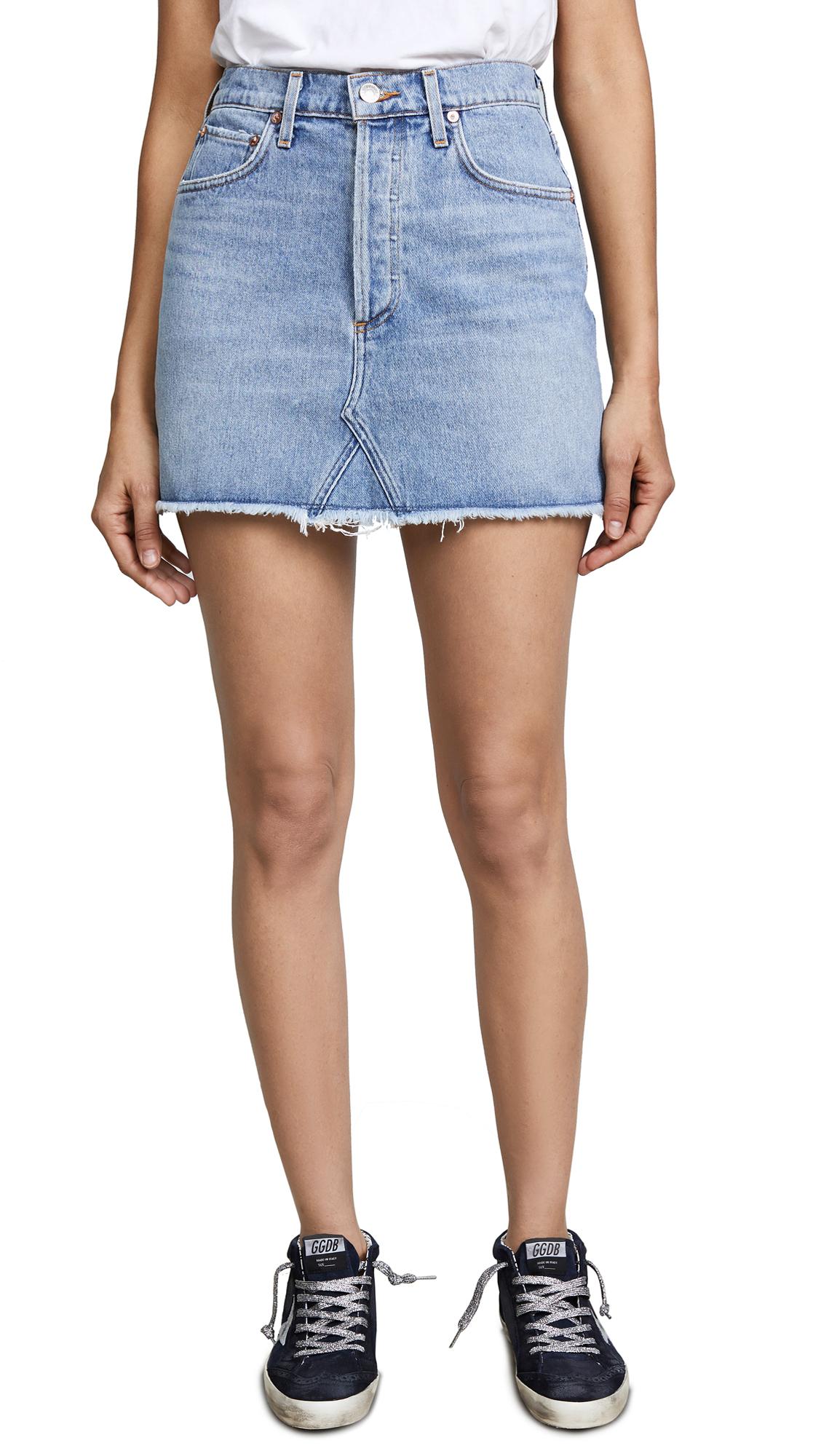 AGOLDE Quinn High Rise Miniskirt - Devotee
