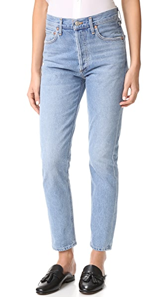 AGOLDE Jamie High Rise Classic Jeans - Brooklyn