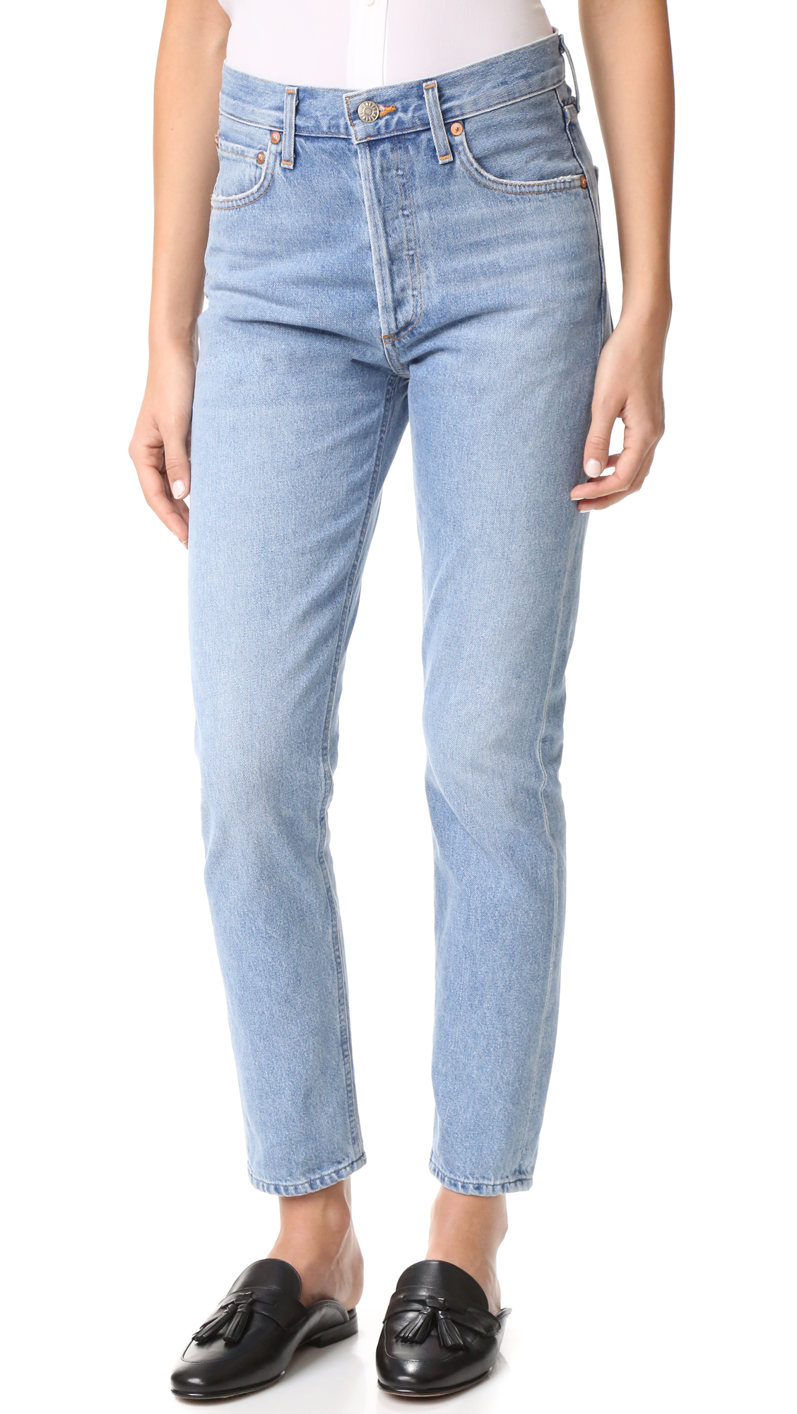 Agolde Jamie High Rise Classic Jeans - Brooklyn at Shopbop