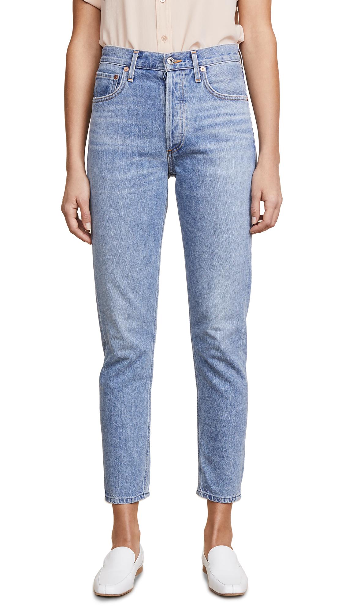 AGOLDE Jamie High Rise Classic Jeans In Brooklyn