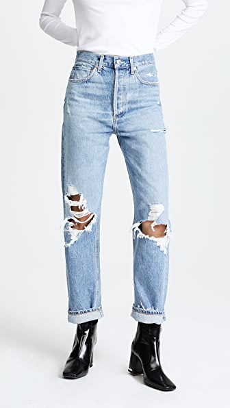 AGOLDE 90s Fit Mid Rise Loose Fit Jeans - Fall Out